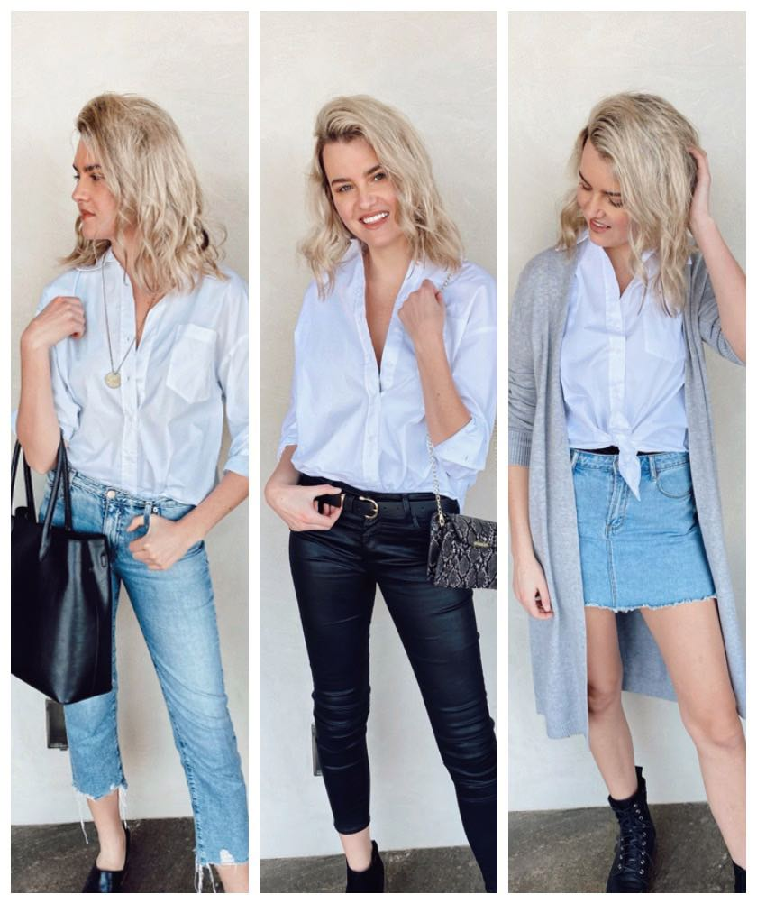 how to style the boyfriend shirt
