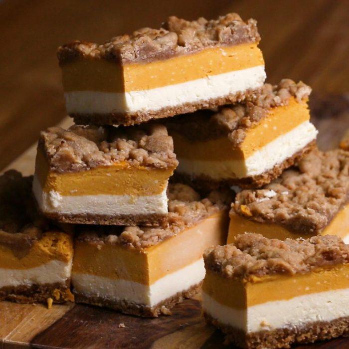 pumpkin cheese cake bars